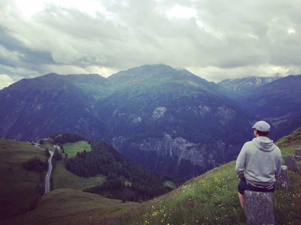 Yeah, that's me. Looking beautiful scenery of Austria.
